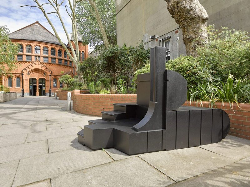 A fragment of the Counterspace Pavilion at the Tabernacle in Notting Hill.