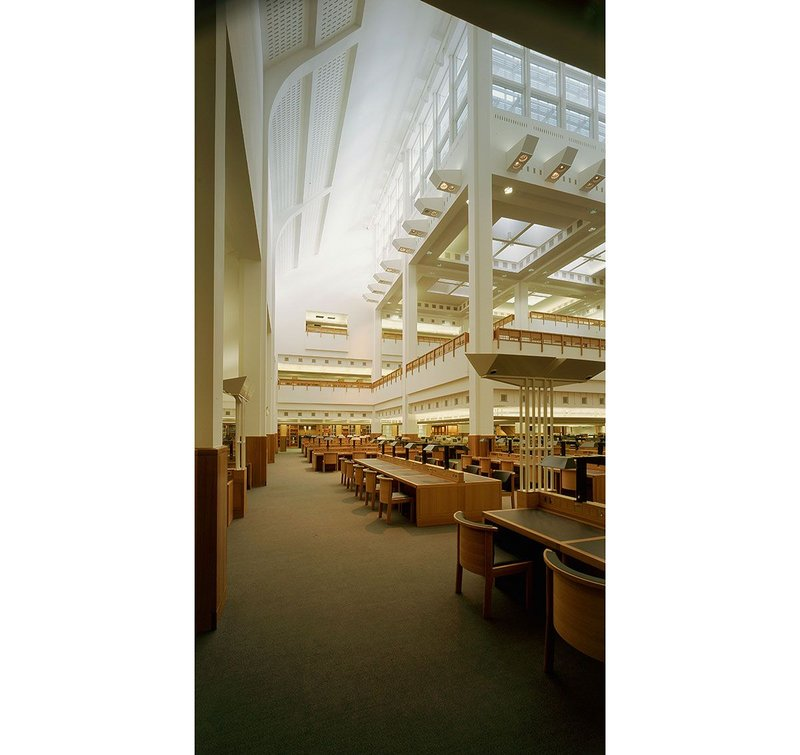 The Humanities Reading room at Sandy Wilson's British Library when brand new.