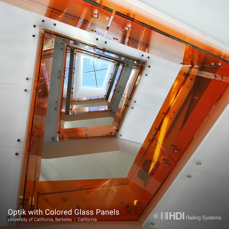 Coloured, laminated and tempered: HDI's Optik Boss at University of California, Berkeley.