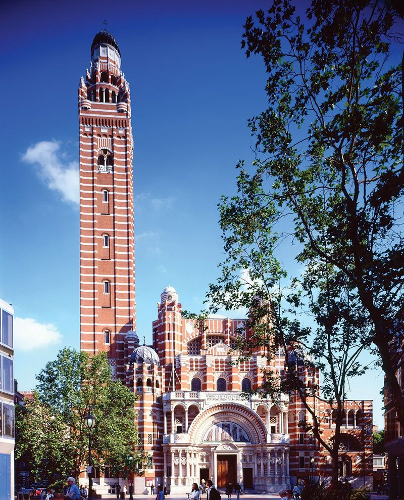 Westminster Cathedral – the Bentley masterwork photographed in 1995 after cleaning.