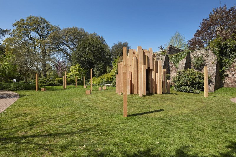 Hollow, by Katie Paterson and Zeller & Moye, is a permanent installation in the Royal Fort Gardens at the University of Bristol.