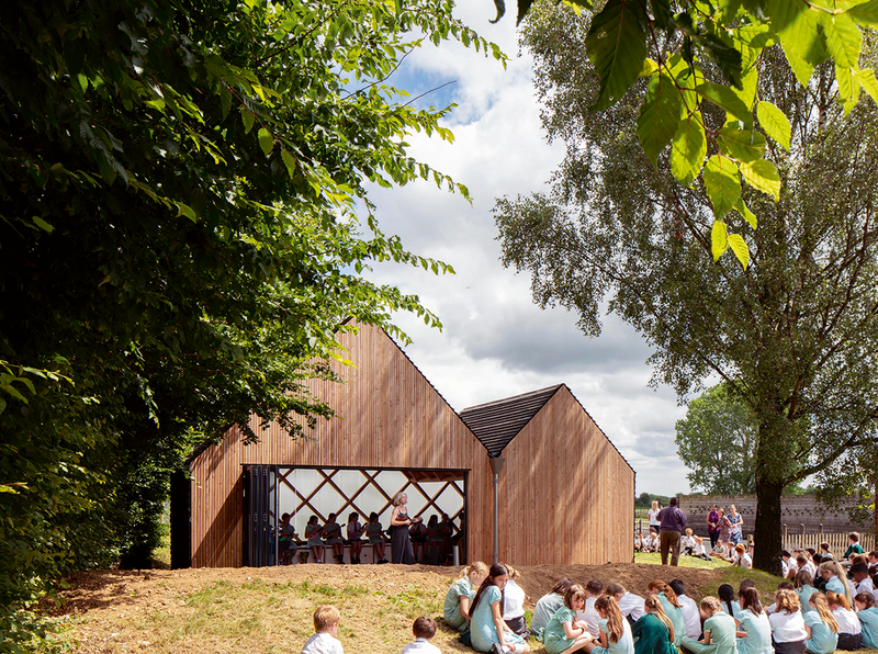 St John's School music pavilion: low budget and rich networks.