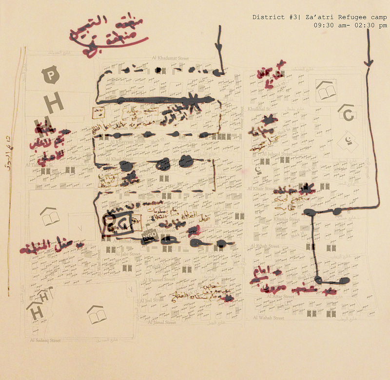 a-map-drawn-by-one-community-mobiliser-aj-that-shows-the-route-that-he-follows-through-his-everyday-walks-in-district-three-in-za-atri-refugee-camp