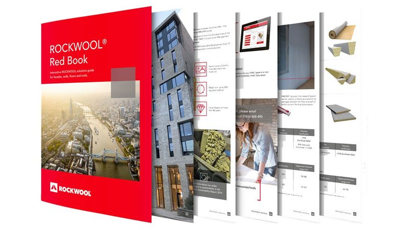 The Rockwool Red Book: Specification data for the company's acoustic, fire and thermal solutions in one single place.