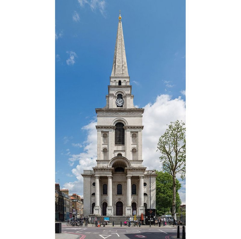 Christchurch Spitalfields, Commercial Street, London, Nicholas Hawksmoor, 1714-1729