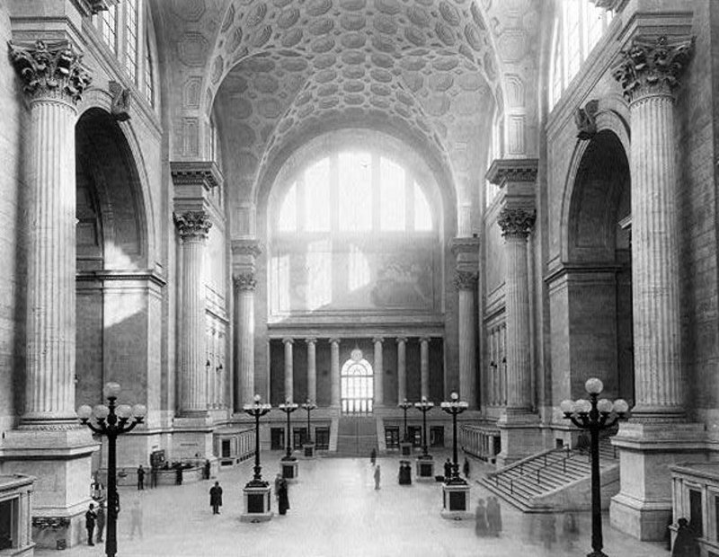 Original Penn Station, New York; McKim, Mead & White, 1901-10