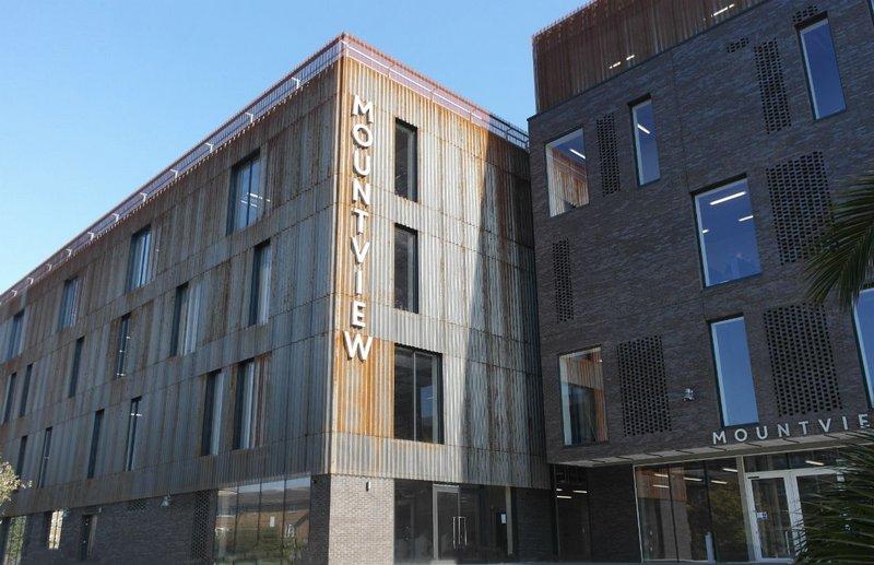 Cadisch MDA Welltec steel cladding in Corten finish, Mountview Academy of Theatre Arts, Peckham. Carl Turner Architects.