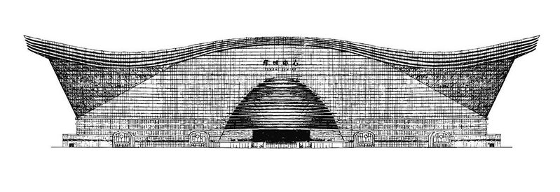 Drawings in the book give a sense of the relative scale of buildings. New Century Global Center, Chengdu is one of the biggest.