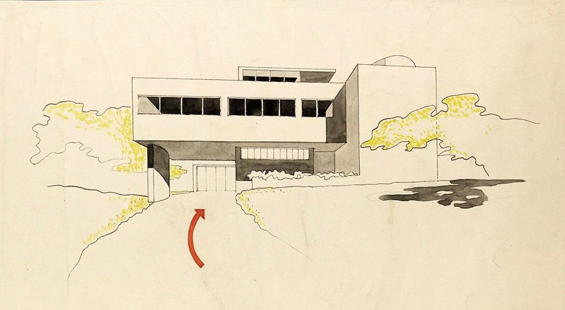Designs for a house by Sir Leslie Martin and Sadie Speight, 1935.