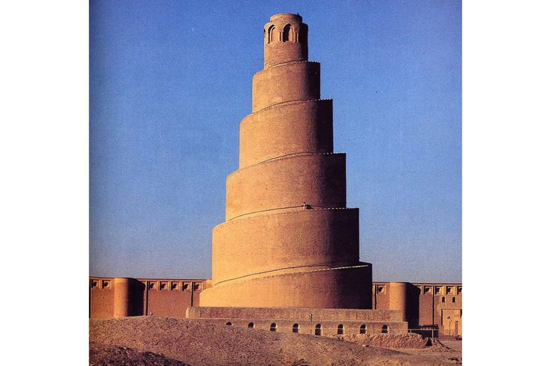 The Malwiya Minaret at the Great Mosque of Samarra, Iraq, 848-851