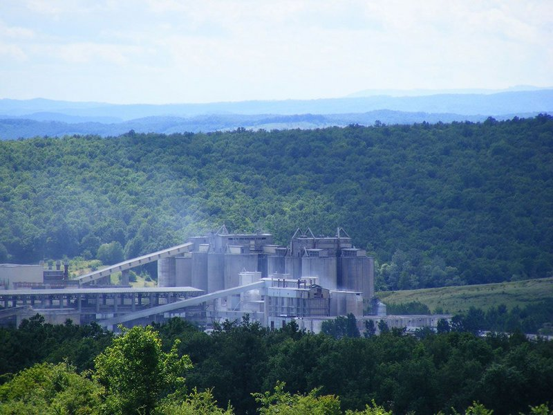 A cement factory. The report's proposal would involve designers, producers and contractors.