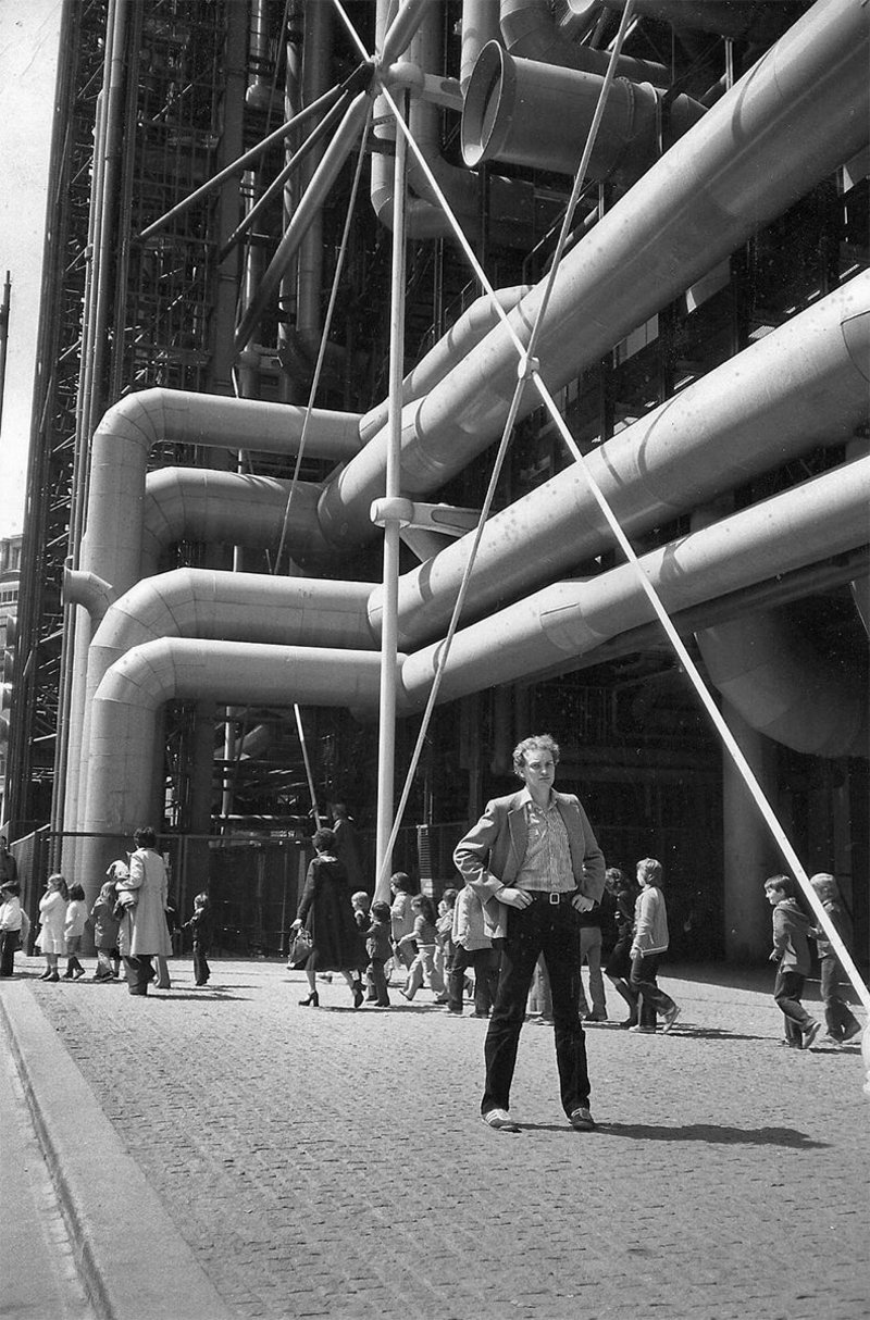 Pearman at the Pompidou in 1979.