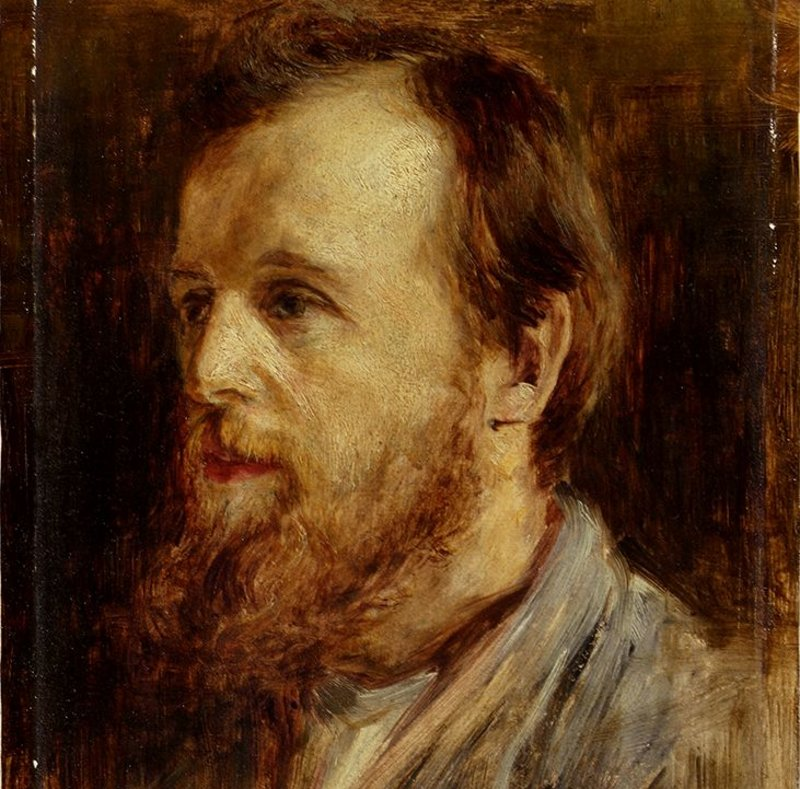 William Leiper by Colin Hunter ARA, 1869, oil on canvas (Bequeathed in 1928 by James Dunn).