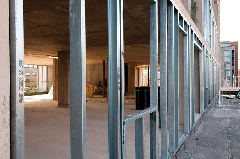 The SFS system can be installed from inside the building.