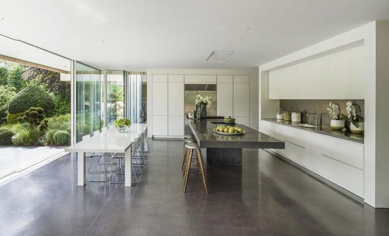 Shine on: Lazenby Polished Concrete flooring. Gregory Phillips Architects.