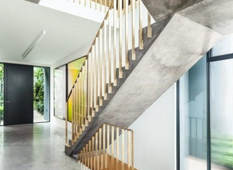 Up, up and away: Lazenby pre-cast concrete staircase. Humphrey Kelsey Architecture.