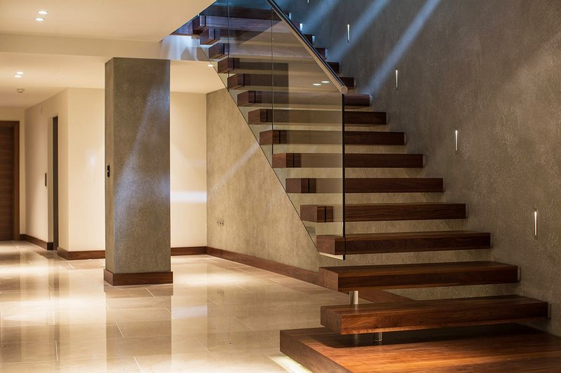 One of the most popular and contemporary styles is incorporating glass balustrades, stainless steel handrails along with timber treads.
