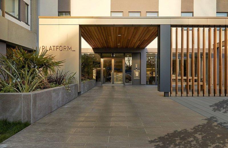 Ayre Chamberlain Gaunt's refurbished nine-storey, 1970s office building into 185 studio- 2-bed apartments for build-to-rent developer PLATFORM_