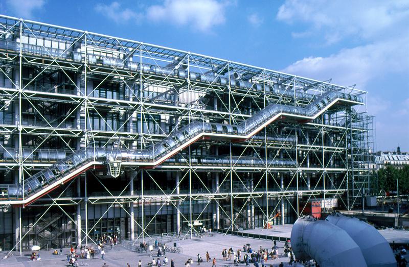 Pompidou closed for refurbishment.