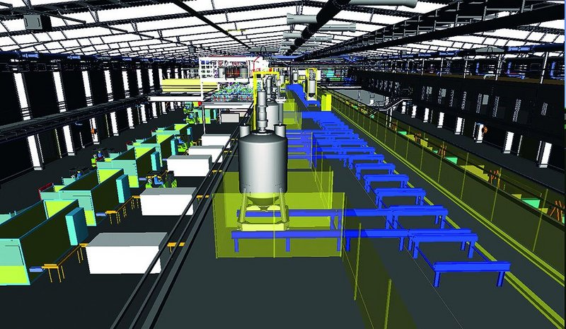 Ryders' factory for Akzo Nobel – modelled in BIM.