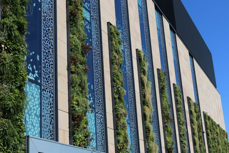 ANS Global's living wall at Atkins' Easter Bush Campus, University of Edinburgh. The exhibitor aims to create stunning visual and environmental impact - inside and out.