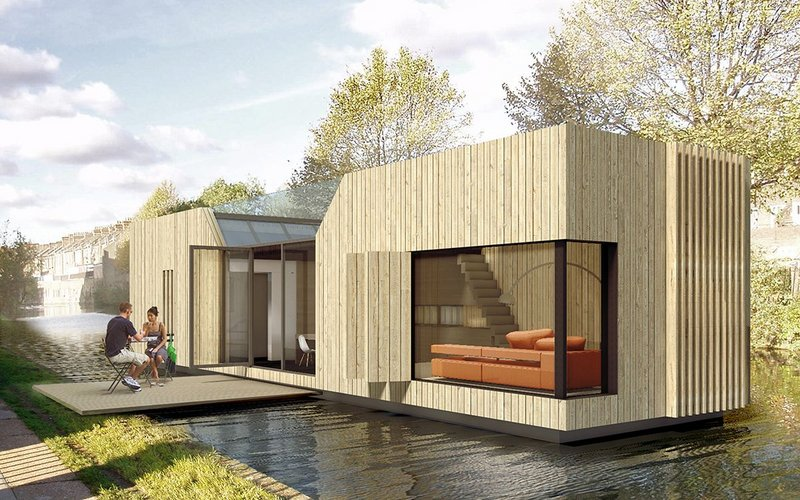 The Chichester floating homes by Baca Architects.
