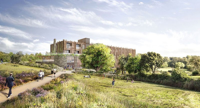 The proposed hotel designed by Tate Harmer has planning permission and is halfway through RIBA Stage 4 but currently on hold.