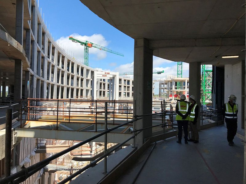 The National Children's Hospital of Ireland in Dublin by BDP. The world-class hospital with associated research and innovation centres exemplifiesz the need for project delivery data systems.