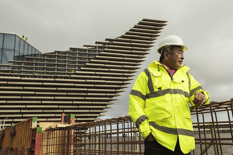 How to make a high-vis look stylish – Kengo Kuma makes a site visit to Dundee.