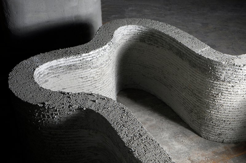 Continuous printing can produce monolithic structures with no cold joints.