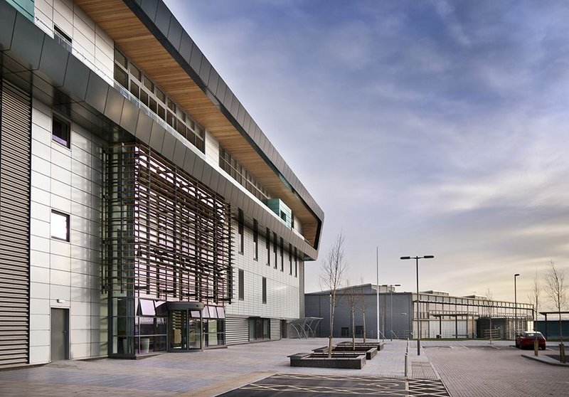 Completed in 2011, the Nuclear Advanced Manufacturing Research Centre is the second facility by Bond Bryan Architects for the University of Sheffield on its Advanced Manufacturing Park in Rotherham.