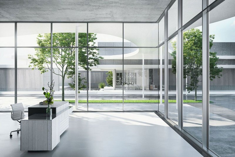 The FWS 35 PD facade: wider, unobstructed views and greater transparency from inside.
