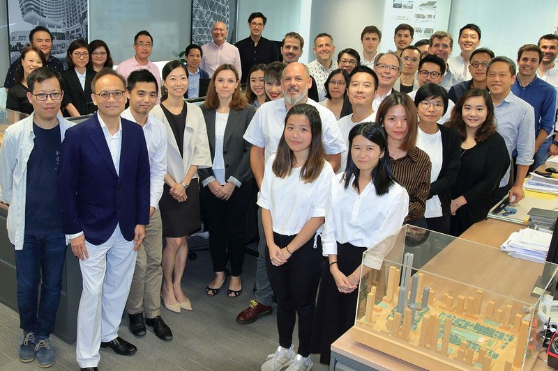 Staff in TFP Farrells Hong Kong office. Based in Hong Kong since 1991, Farrells have developed a strong reputation in the Asian market for their design of urban transportation infrastructure projects, landmark skyscrapers and master plans.