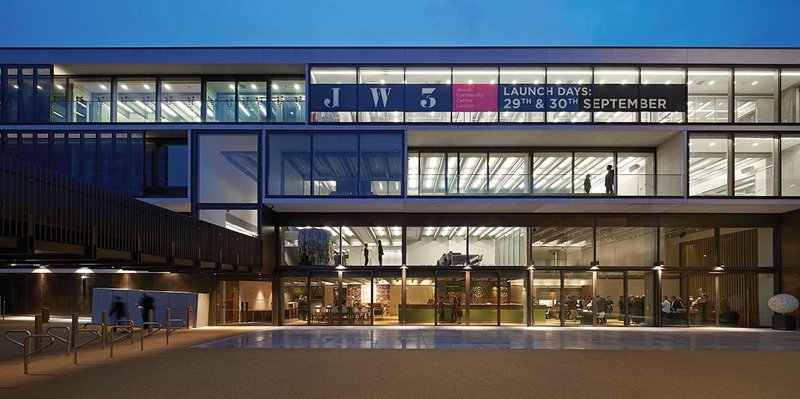 JW3's main pavilion elevation was designed to be highly blast resistant.