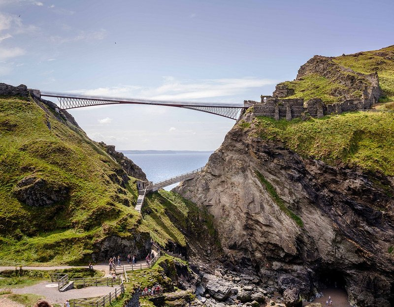 Tintagel Castle Footbridge, Ney & Partners &William Matthews Associates' Tintagel Bridge.