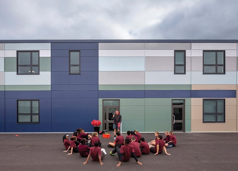What have free schools meant for funding? Barking's Riverside free school (primary) by Surface to Air working with modular construction.
