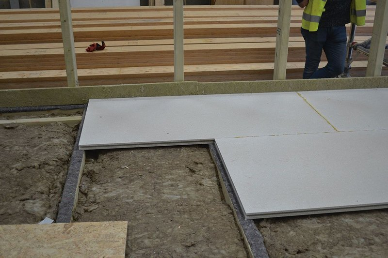 Knauf UK's GIFAfloor has been specified for use in the LivShare modular system by ZedFactory.
