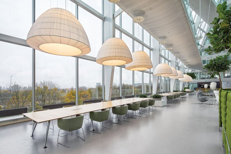 The Edge building's 6,500 LED luminaires also act as IT nodes as part of its building-wide system.