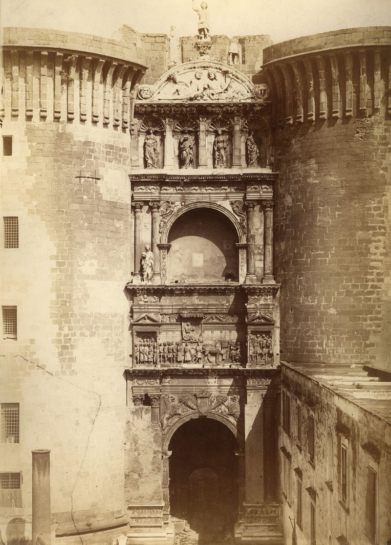 Castel Nuovo Naples, 1860s.