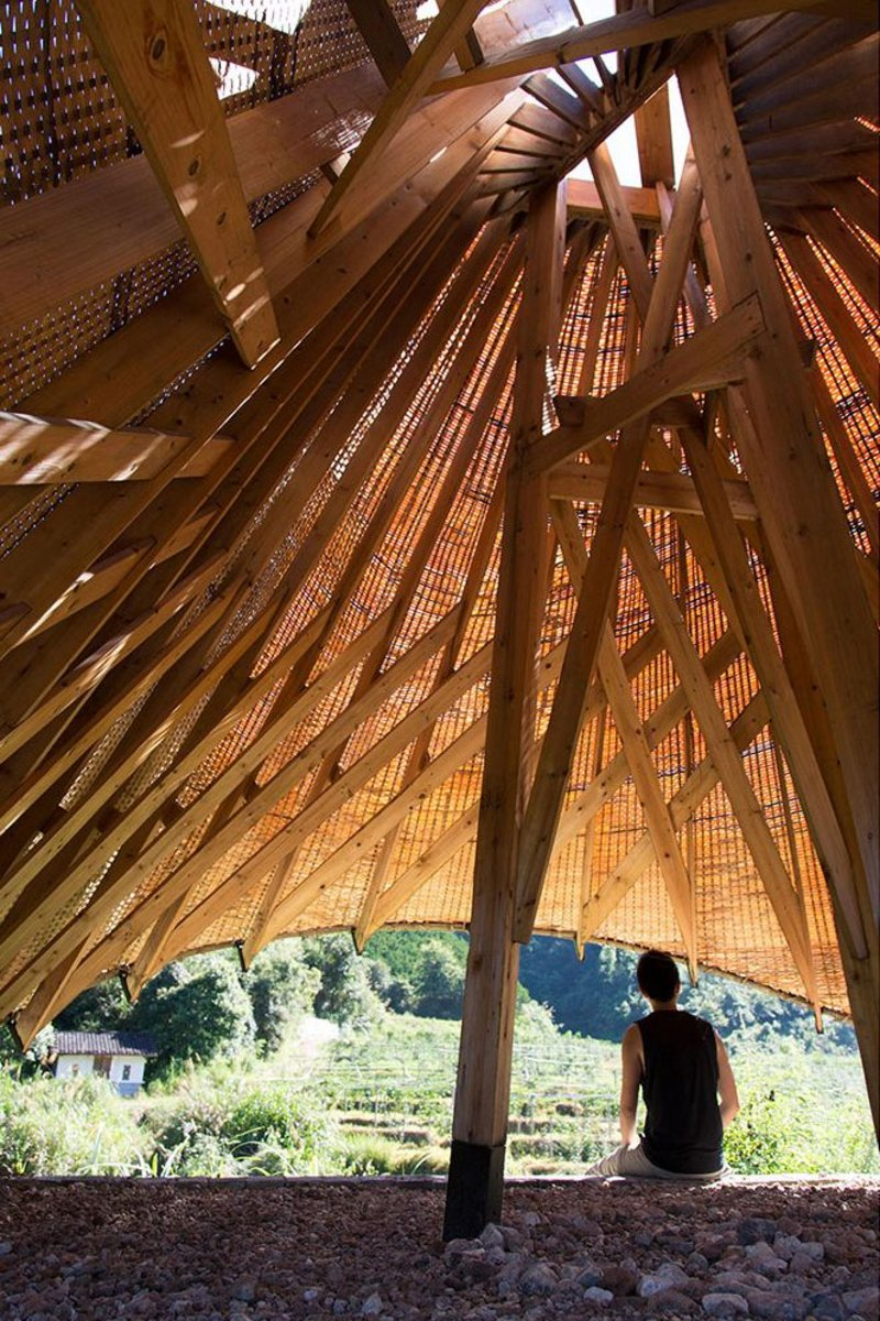 "The composite ""Sun Room"" in Peitian uses traditional bamboo-weaving techniques in an entirely new way."