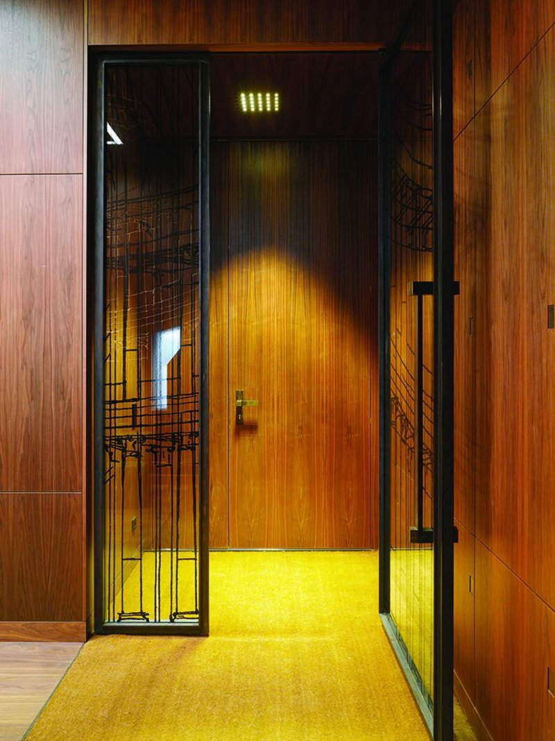 The internal detailing of the Tchoban Foundation is all bespoke, giving the sense of a private members' club