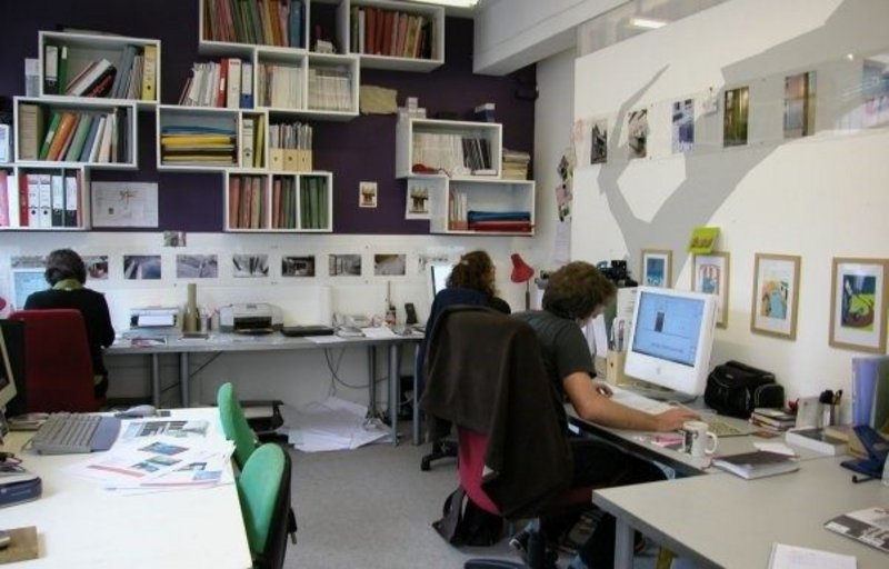 The team at Architects in Residence (AIR) working in their Bermondsey Street studio.