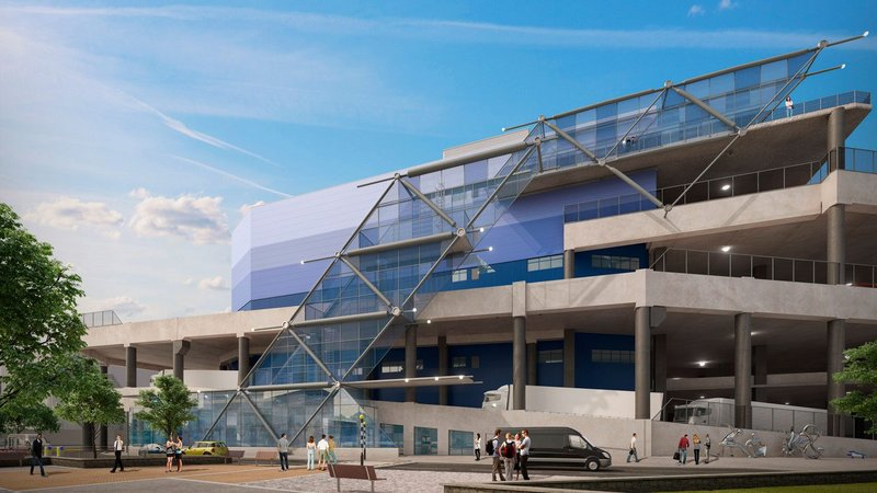 G Park London Docklands 426,000 sqft is built over over three storeys opposite London City Airport using platforms to allow lorries to access each level.