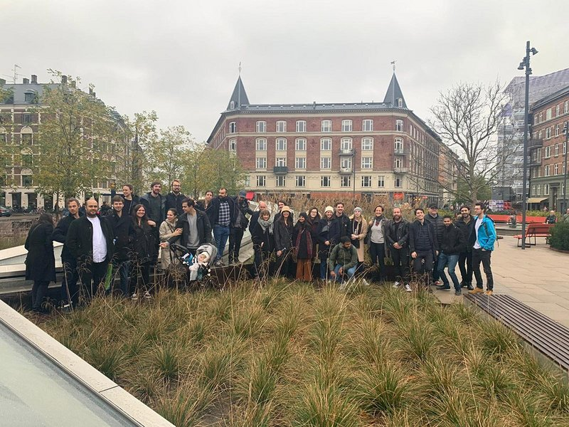 Arup Architecture Copenhagen Study Trip, Arup's architects on a study to trip to visit the recently competed Cityringen Metro in Copenhagen, Cityringen Metro, October 2019.