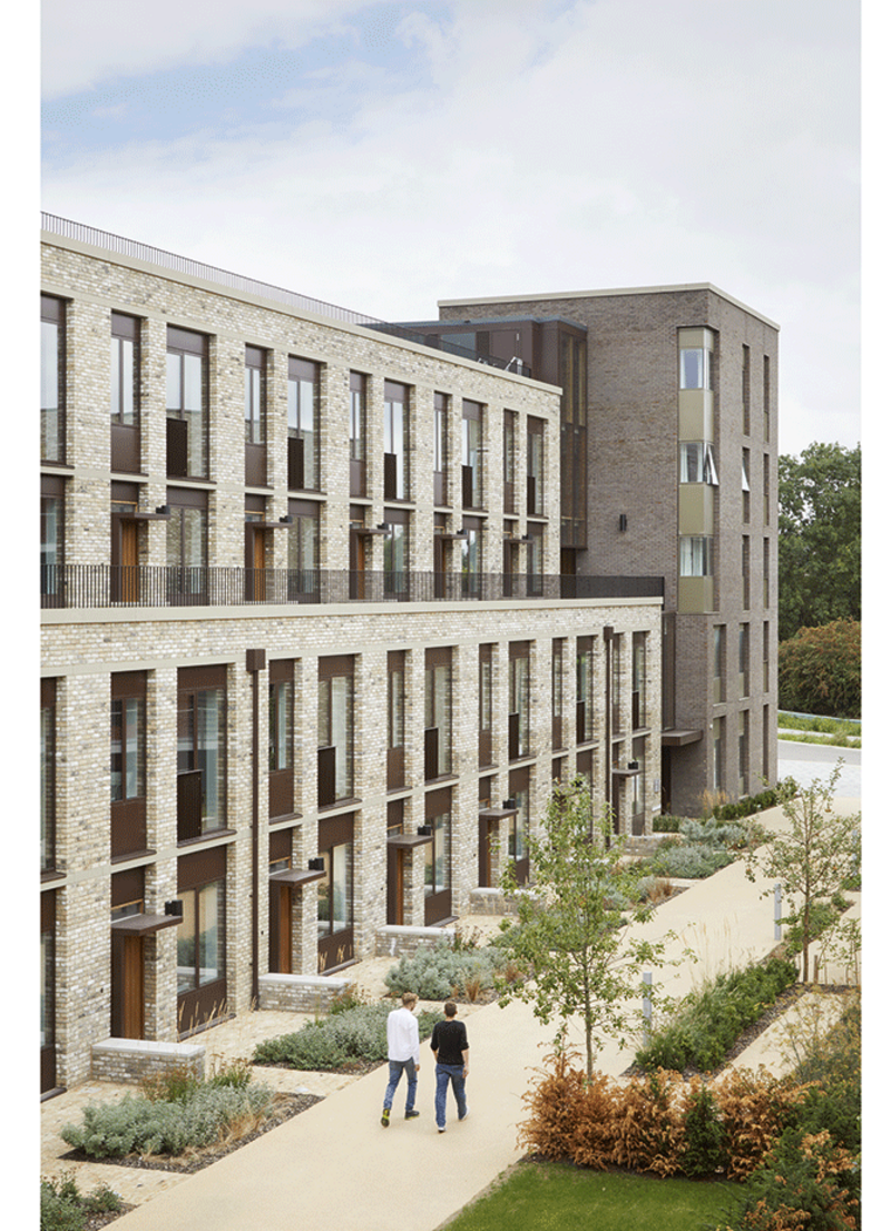 WilkinsonEyre/Mole Architects' first phase student accommodation at North West Cambridge.