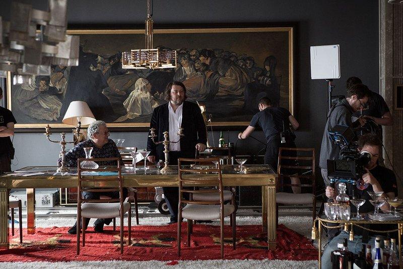 Producer Jeremy Thomas & Director Ben Wheatley on the set.