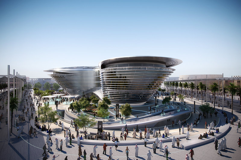 Hermes was used to coordinate parametric assemblies between CAD and BIM software for the complex, curved louvres of the Dubai EXPO Mobility Pavilion