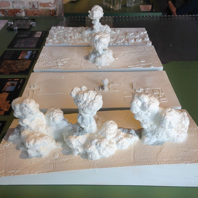 Meringues? No, modelled dust from one-tonne bombs in Gaza in Weizman's work on show in Venice .