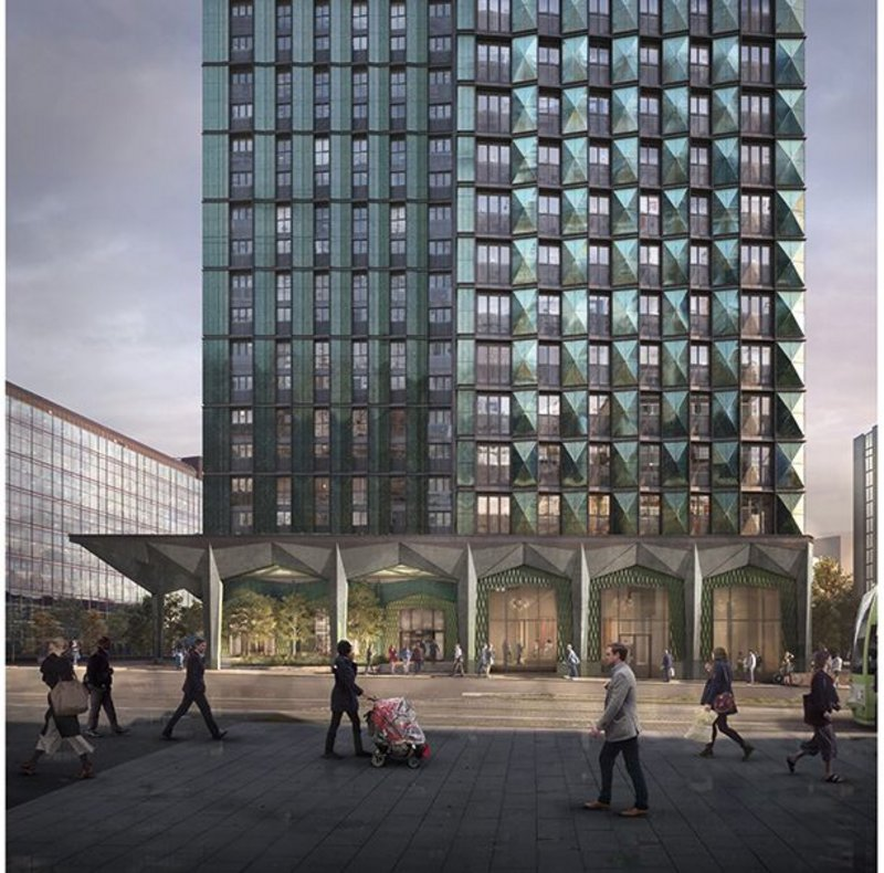 HTA's 101 George Street, Croydon, for operator Greystar comprises two towers and 546 homes.