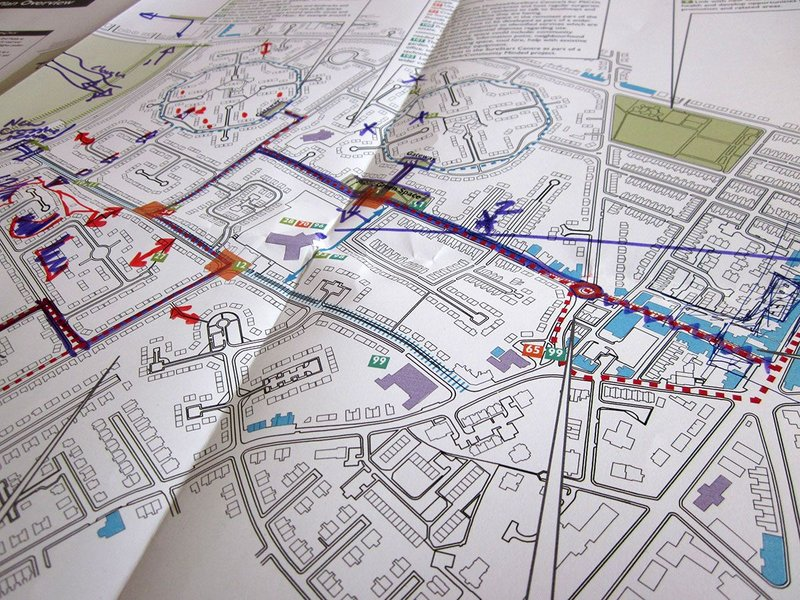 Old Moat map: designing a local plan with the older people of the neighbourhood in Manchester.